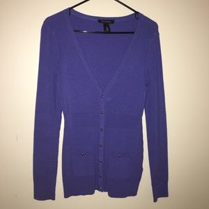 WHBM blue Cardigan